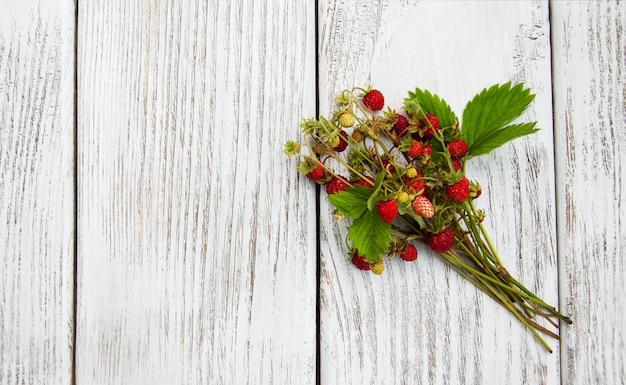 Haufen von walderdbeeren