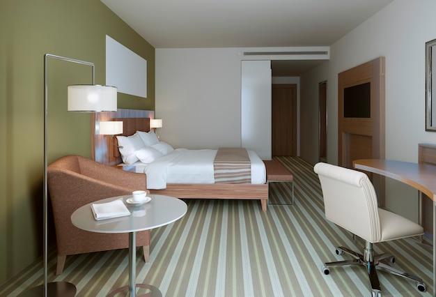 Hauptschlafzimmer im zeitgenössischen stil