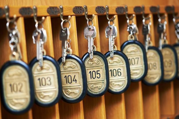 Hauptschlüssel für das hotel