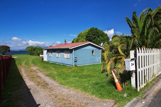 Haus in der stadt von rotorua, neuseeland