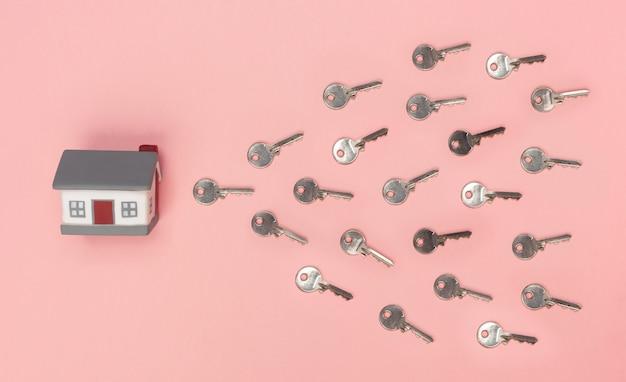 Haus mit schlüsseln, die ei und sperma symbolisieren.