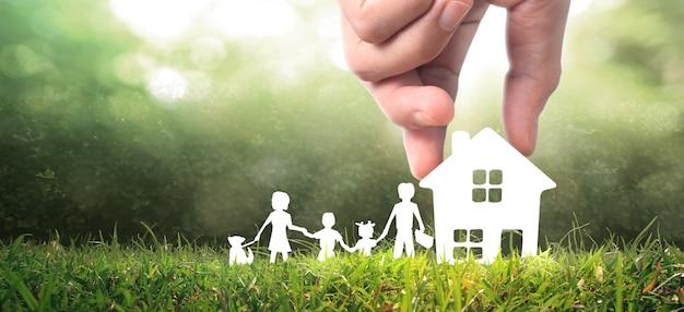 Haus wohnstruktur in einer hand
