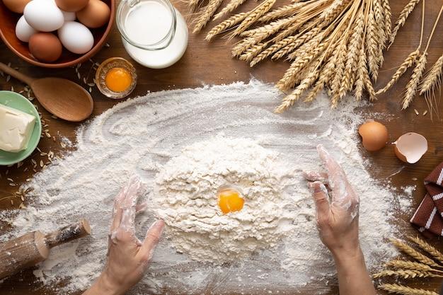 Hausbäckerei während der covid-epidemie