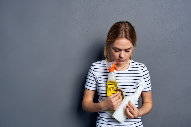 Hausfrau reinigungsmittel schutzhandschuhe