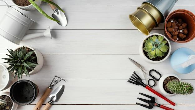 Hausgartenanordnung mit kopierraum