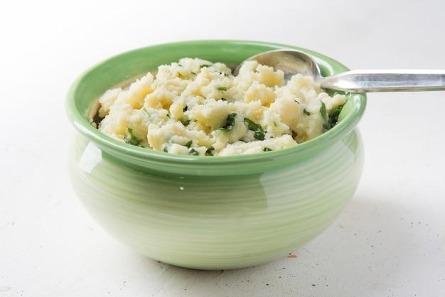 Hausgemachte colcannon irish mashed potatoes st. patrick tagesessen