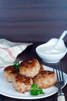 Hausgemachte frittierte schnitzel