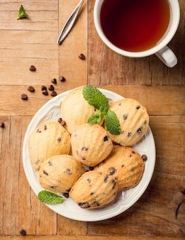 Hausgemachte kekse madeleine