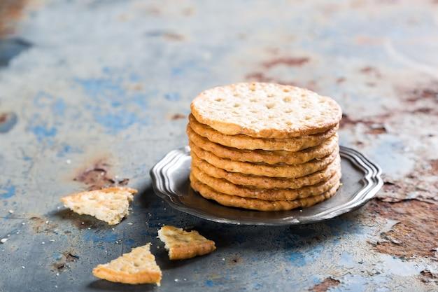 Hausgemachte kekse mit quinoa