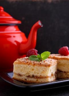 Hausgemachte muffins mit walnüssen