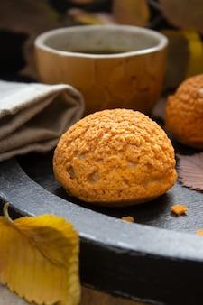 Hausgemachte profiteroles kuchen choux cream puff