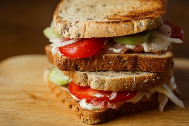 Hausgemachte sandwiches