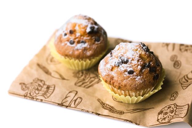 Hausgemachte schokoladensplitter-muffins
