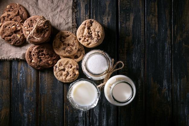 Hausgemachte schokoladentropfen cookies