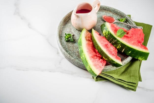 Hausgemachte süß-saure wassermelonensauce