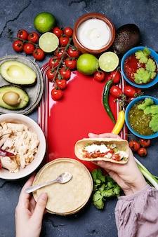 Hausgemachte tortillas
