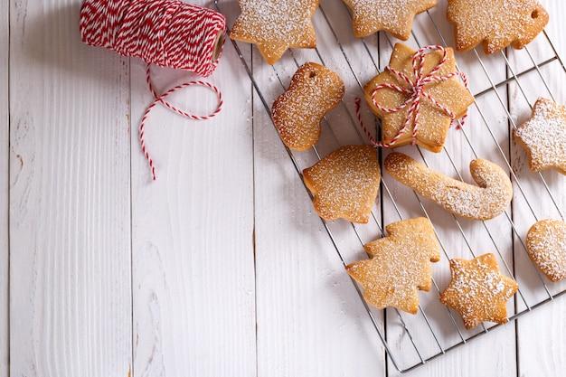 Hausgemachte weihnachten shortbread cookies