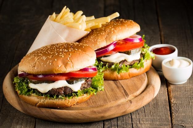 Hausgemachter hamburger