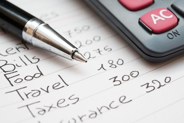 Haushaltskosten konzept