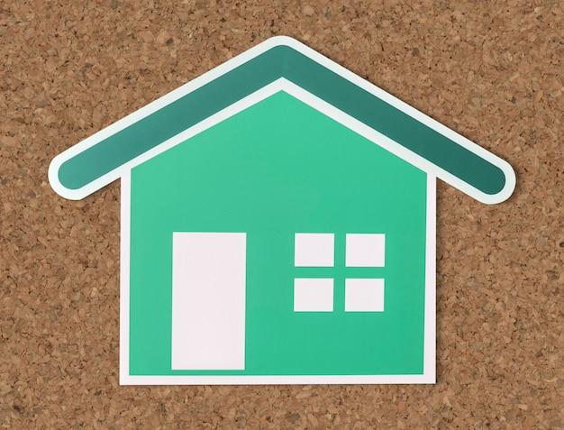 Hausversicherung symbol ausgeschnitten