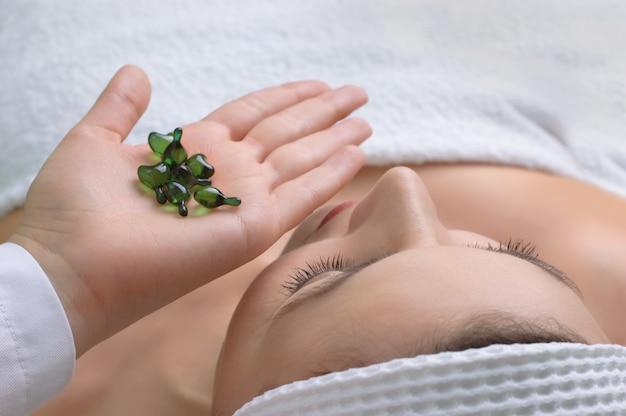 Hautbehandlung anwenden