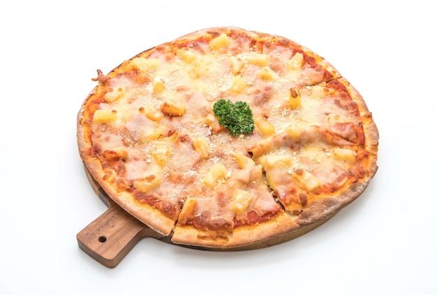 Hawaii-pizza auf weiß