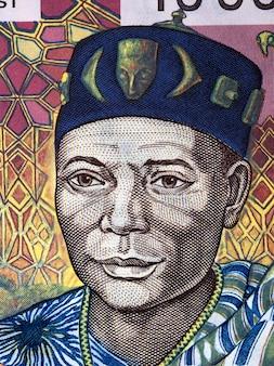 Headman ein porträt aus alten westafrikanischen staaten geld