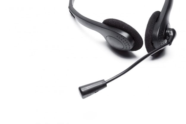 Headset mit mikrofon isoliert