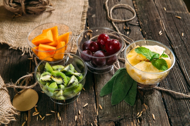 Healhy bio-vitamine lebensmittel gehackte früchte