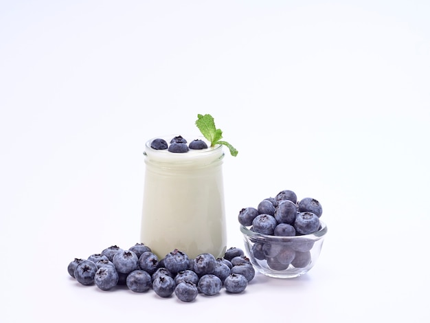Heidelbeer-joghurt und minze.