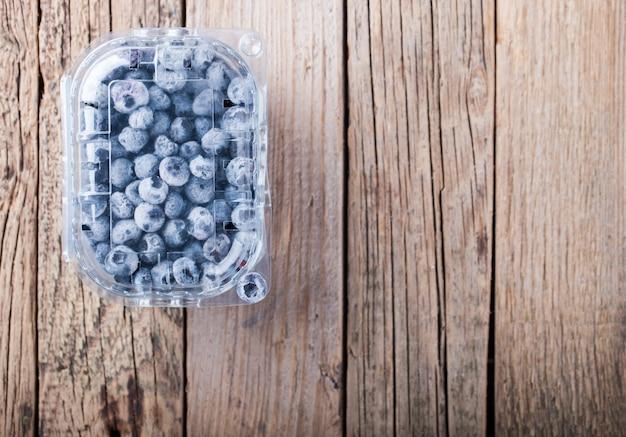 Heidelbeeren in einer box