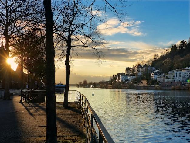 Heidelberg sommerblau europa stadt fluss