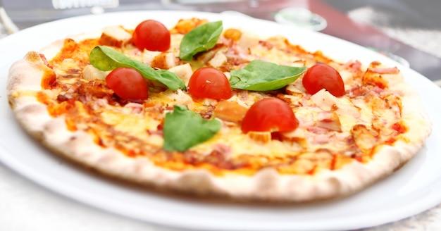 Heiße und leckere pizza