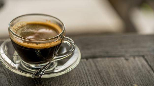 Heißer espresso-kaffee