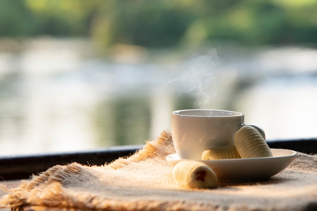 Heißer kaffee.