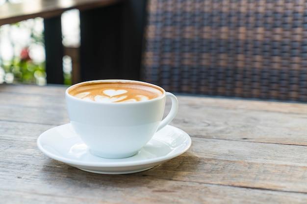 Heißer latte kaffee