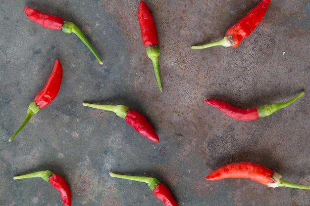 Heißer roter paprika oder paprikapfefferabschluß herauf bildgruppe.