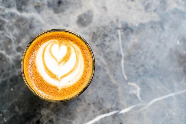 Heißes kaffeeglas