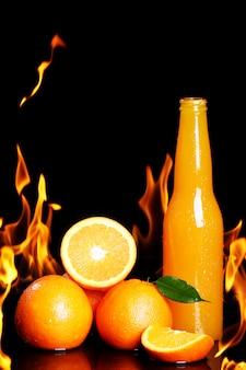 Heißes orangensaftgetränk