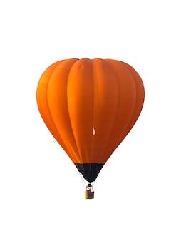 Heißluftballon lokalisiert auf weißem hintergrund.