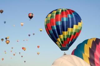 Heißluftballons schön