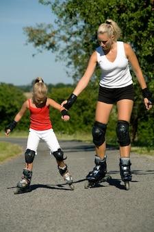 Helfen sie beim skaten