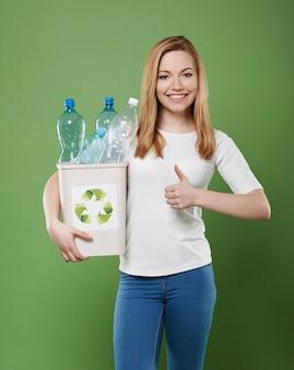 Helfen sie ihrer welt und beginnen sie mit dem recycling