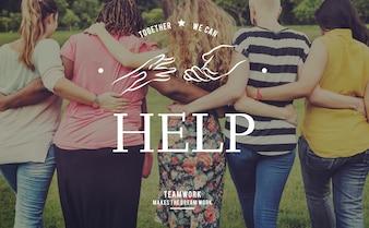 Helfende Hände Freiwilliger Unterstützungsgemeinschaftsdienst-Grafik