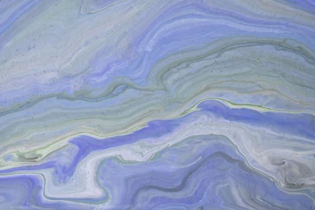Hellblaue und graue farben des abstrakten flüssigen kunsthintergrundes. flüssiger marmor. acrylmalerei mit farbverlauf und spritzer. aquarellhintergrund mit wellenförmigem muster. stein marmorierter abschnitt.