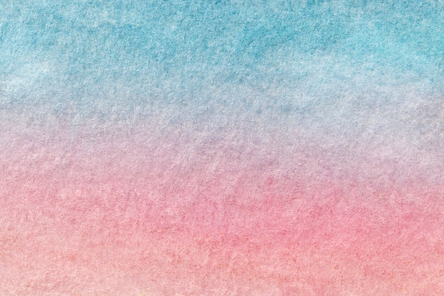 Hellblaue und rosa farben des hintergrundes der abstrakten kunst. aquarell auf leinwand.