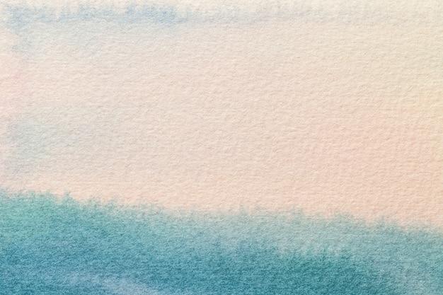 Hellblaue und weiße farben des abstrakten kunsthintergrunds. aquarellmalerei auf leinwand.