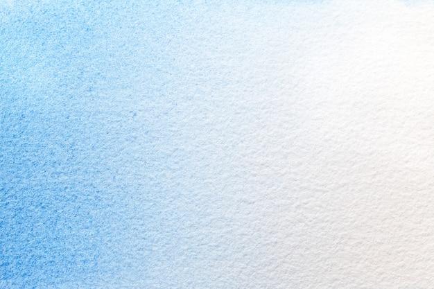 Hellblaue und weiße farben des hintergrundes der abstrakten kunst. aquarell auf leinwand.