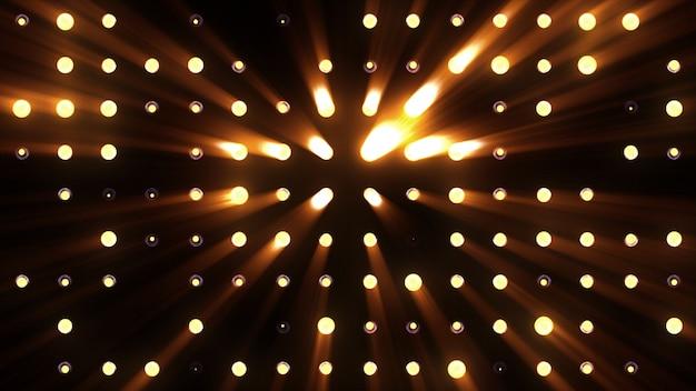 Helle fluten von orangefarbenem licht blinken sehr hell