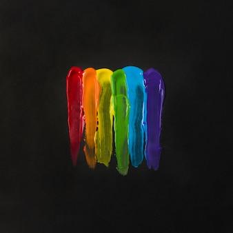 Helle lgbt-farben von farbstoffen